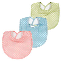 Polka Dot Cotton and Terry Cloth Infant Bib