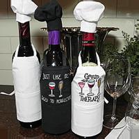 Wine Bottle Apron & Chef Hat Set