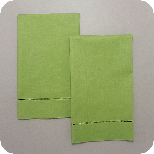 Cheap Guest Towels: Kiwi Green Solid Hemstitched Guest Towel