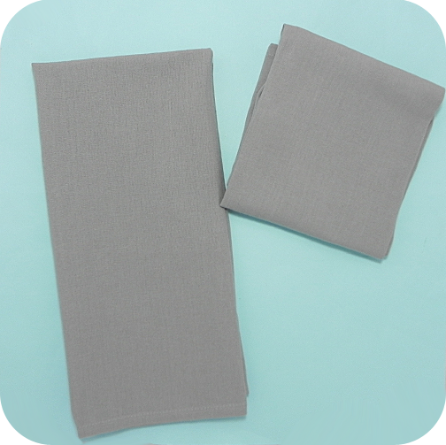 Solid Flat-Weave Kitchen Towel - Grey