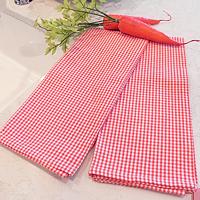 Carrot Orange Mini Check Kitchen Towels