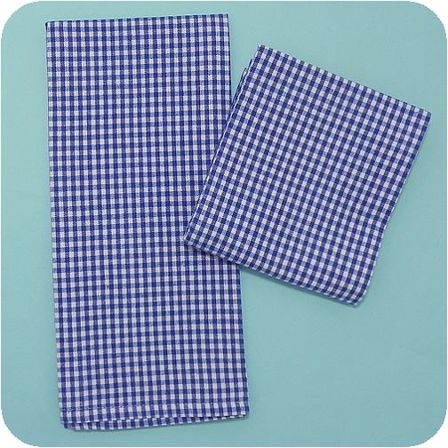 Royal Blue Kitchen: Mini Check Kitchen Towel