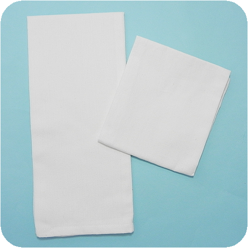 Solid Flat-Weave Kitchen Towel - White